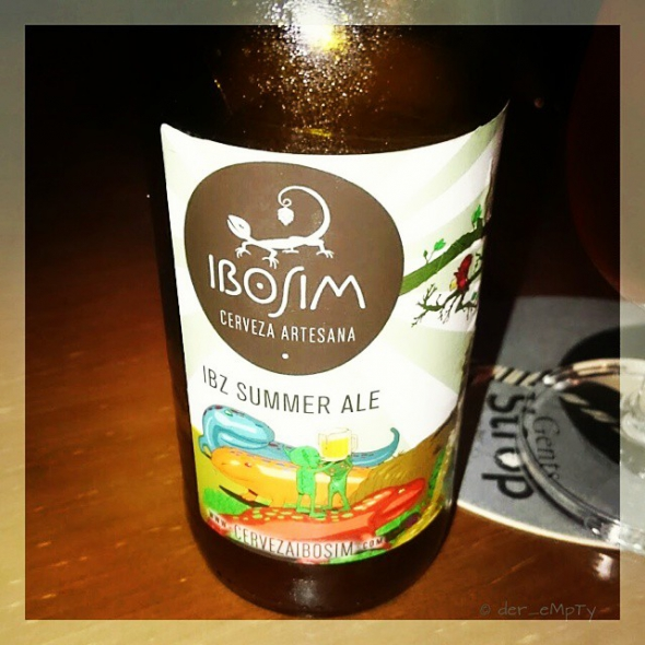 Cerveza ibosim. Summer Ale . Handcrafted beer from Ibiza