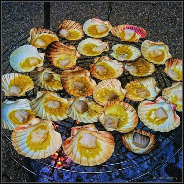 grill to Thrill: Grilled scallops @Frankys im Wasserbahnhof Mülheim
