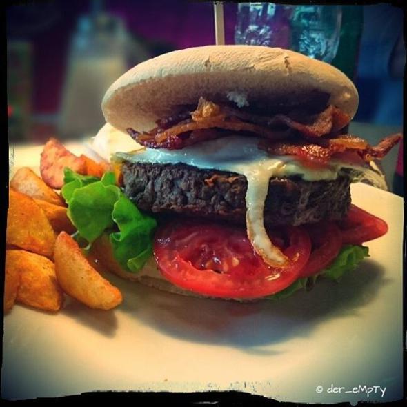 Angus Burger Bacon and Egg