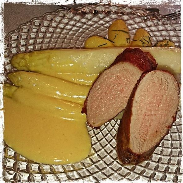 Spargel mit Filet vom Duroc - Whiskyabend in der Mausefalle