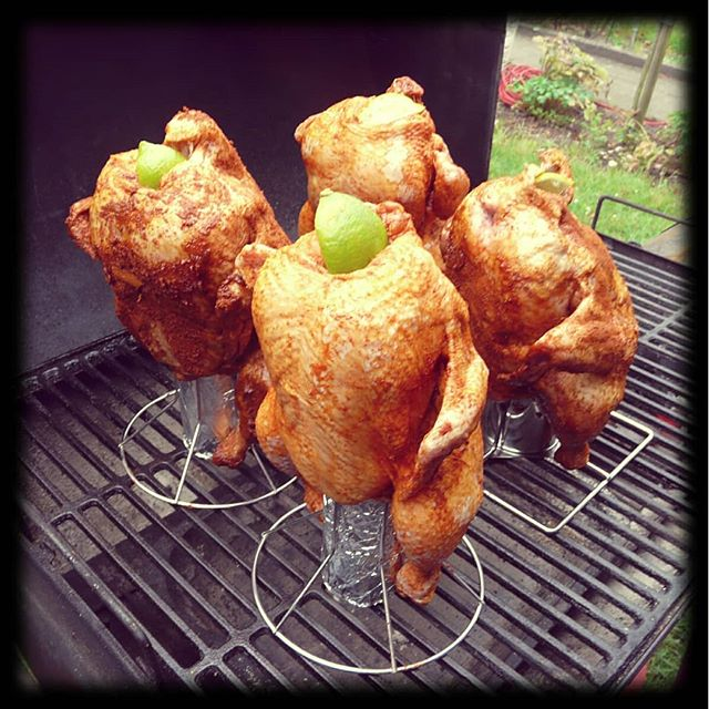 4 Beer Butt Chicken
