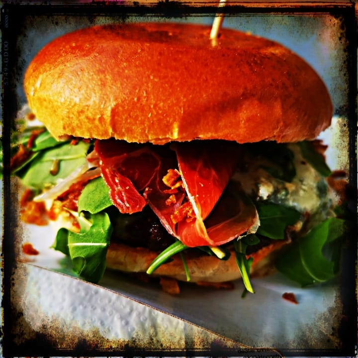 Burger with blue cheese, Parma ham and aragula @ 1st Beer & Burger Festival in Duisburg&burgerFestival